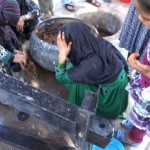 filling cylinder with briquette mixture, A4T training program-Nangarhar-2014