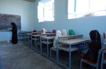 A4T Girls School, literacy class, Wardak School; March 2016